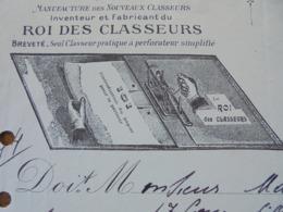 FACTURE - PARIS 9ème, 1920 - PAPETERIE FAUBOURG POISSONNIERE : P. SAVOIE - DECO - Frankreich