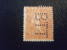 FRANCE TIMBRE SEMEUSE 199 BTT189 PERFORE PERFORES PERFIN PERFINS PERFO PERFORATION PERFORIERT LOCHUNG PERFORATI PERCE - Perforés