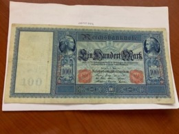 Germany 100 Mark Large Banknote 1910 - [ 2] 1871-1918 : German Empire