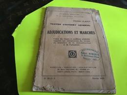 JO Journal Officiel  Tirage à Part Texte D'intérêt Général Adjudication Et Marchés Sanary - Decrees & Laws