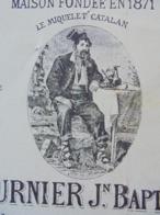 FACTURE + TRAITE - PERPIGNAN, 1895 - CHOCOLAT ET BOUGIE : FOURNIER JEAN BAPTISTE - DECO - Frankreich