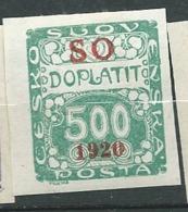 Pologne - Silesie Orientale  - Taxe - Yvert N° 10 *   -  Cw 34803 - Silezië (Opper- En Neder-)