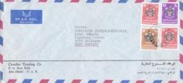 BUSTA VIAGGIATA  - EMIRATI ARABI UNITI - ABU DHABI - CANDLES TRADING CO. - VIAGGIATA PER WEST ( GERMANIA) - Abu Dhabi