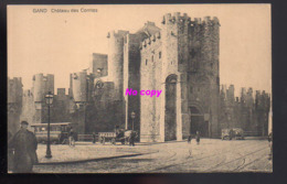 REF 375 : CPA Belgique GAND Chateau Des Comtes Tramway Attelage - Otros