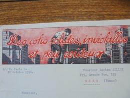 FACTURE - PARIS Xème,1956 - EMBALLAGE MECANIQUE INVIOLABLE :  ANDRE REBICHON - DECO - Frankreich
