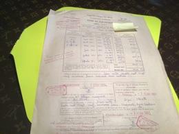 Direction Générale Des Impôts Contributions Indirectes Titre De Perception Toulon Ouest 1961 - Decrees & Laws