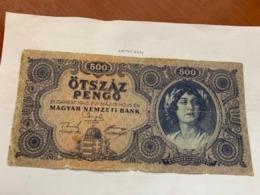 Hungary 500 Pengo Banknote 1945 - Ungarn