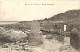 Cpa Ile Madame Fontaine Des Insurges - Francia
