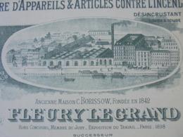 FACTURE - LA MADELEINE LEZ LILLE, 1904 - APPAREILS ET ARTICLES CONTRE L'INCENDIE : FLEURY LE GRAND - BELLE DECO    DECO - Frankreich