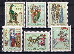 "Jugoslawien 1964, "" Kunst In Jugoslawien Durch Die Jahrhunderte"" , Mi. 1095-1100 Postfrisch / MNH / Neuf - 1945-1992 Socialist Federal Republic Of Yugoslavia"