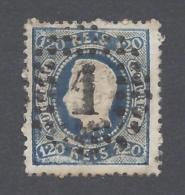 PORTUGAL 1867 LUIS I 120r BLUE Nº 33 - Oblitérés
