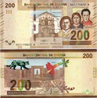 BOLIVIA       200 Bolivianos       P-New       L. 1986 (2019)       UNC  [Series A - Oberthur] - Bolivia
