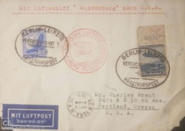 O) 1936 GERMANY, SWASTIKA SUN AND EAGLE - SC C48 15pf, HINDENBURG -ZEPPELIN SC C57 50pf, MIT LUFTPOST HINDENBURG TO USA - Germany