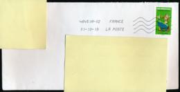 """2019 : Timbre Postal Adhésif """"BD, Abraracourcix, Tous Irréductibles  ! Astérix"""" Seul Sur Lettre - Storia Postale"""