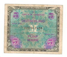 Germany Allied Occup. 5 Mk. 1944 ,  P-193a.USED. - [ 5] 1945-1949 : Allies Occupation