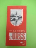 Dépliant Touristique Ancien à 3  Volets/Visitez L'URSS/Intourist/ Visitez L'Union Soviétique/1937      PGC394 - Dépliants Touristiques