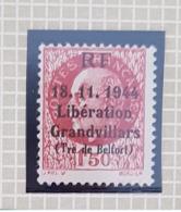 Timbre Libération Grandvillars 1f50 Bersier - Liberation