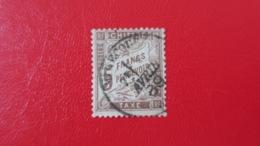 Taxe 5 Fr Marron N° 27 Obl Cad Mirecourt ( Vosges ) Avril 1889 Signé Brun Et Calves TTB Cote 475 € - Taxes