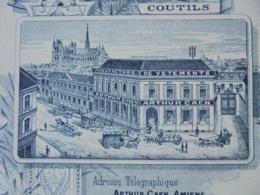 FACTURE - AMIENS, SOMME,1897 - MANUFACTURES DE VETEMENTS : ARTHUR CAEN - DECO - Frankreich