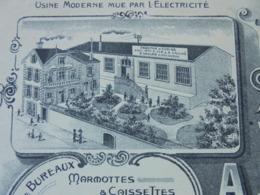 FACTURE - THIERS, PUY DE DOME, 1909 - FABRIQUE D'ECRINS POUR COUTELLERIE : A.VAILHE - DECO - Frankreich