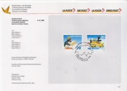 Switzerland Cancelled Set On Special Card - Fairy Tales, Popular Stories & Legends