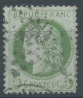 Lot N°51298  Variété/n°53, Oblit étoile Chiffrée 20 De PARIS (R.St-Domque-St-Gn ,56), Tache Blanche Face Au Frond, Filet - 1871-1875 Ceres