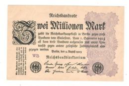 Germany 2 Million Mk. 1923. AUNC/UNC. - [ 3] 1918-1933 : Repubblica  Di Weimar