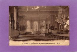 88 CLAUDON Vue Intérieure De L'Eglise Restaurée En 1930 - Altri Comuni