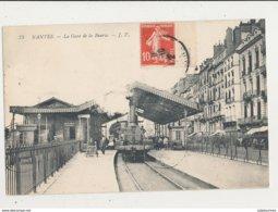44 NANTES LA GARE DE LA BOURSE AVEC TRAIN CPA BON ETAT - Estaciones Con Trenes