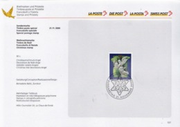Switzerland Cancelled Stamp On Special Card - Christmas