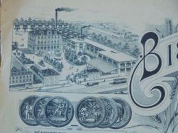 FACTURE - ST MAURICE, VAL DE MARNE, 1921 - BISCUITS GONDOLO : L. MIRAND - BELLE DECO - Frankreich