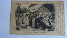 CP Cöte D'Ivoire -Aboisso- Tam-Tam De LOANGO à Mende (France) 1907 - Avec Timbre AOF 10c Rouge (voir Scan) - Ivory Coast