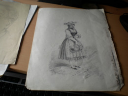 Old Drawings National Costumes - Dibujos