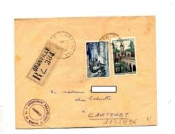 Lettre Recommandée Grandville Sur Evian Quesnoy - Marcophilie (Lettres)