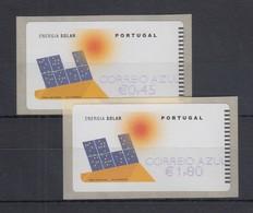 Portugal 2006 ATM Solar-Energie NewVision Mi.-Nr. 54.3 Z2 Wert AZUL 0,45 / 1,80 - Frankeervignetten (ATM/Frama)