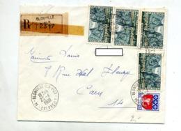 Lettre Recommandée Blonville Sur Moustiers - Marcophilie (Lettres)