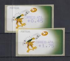 Portugal 2004 ATM Fussball-EM Amiel Mi.-Nr. 44.2.2 Satz AZUL 45-175 ** - Frankeervignetten (ATM/Frama)