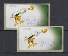 Portugal 2004 ATM Fussball-EM SMD Mi.-Nr. 44.1 Satz AZUL 45-175 ** - Frankeervignetten (ATM/Frama)