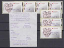 Portugal 2004 ATM Jahr Der Familie Amiel Mi.-Nr. 46.2.1 Tasten-Satz 7 Werte **AQ - Frankeervignetten (ATM/Frama)