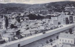 Sarajevo * Quai Partie Und Rathaus, Strassenbahn, Stadtteil * Bosnien Herzegowina * AK895 - Bosnie-Herzegovine