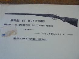 FACTURE - TOULON , VAR, 1923 - MAISON LAMOLE, ARMES ET MUNITIONS - DECO - Frankreich