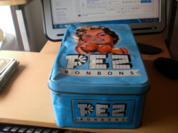 Old Tin Box Pez Bonbons - Pez
