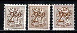 Belg. 1952 OBP/COB 3 X D / S 56** MNH (2 Scans) - Service