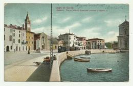 MADERNO - PIAZZA VITT. EMANUELE CON TRAM A VAPORE 1903 VIAGGIATA FP - Brescia
