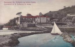 Rab (Arbe) * Samostan Sv. Eufemie, Kloster, Segelboot, Schiffe * Kroatien * AK946 - Croatia