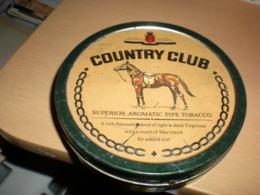 Old Tin Box Country Club Superior Aromatic Pipe Tobacco - Contenitori Di Tabacco (vuoti)