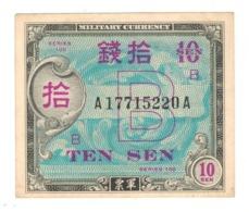 Japan 10 Sen, Military Currency,  AUNC/UNC. - Japan