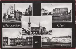 Aandenken Uit Geel Groeten Antwerpse Kempen Zegelaan Statieplein Rijkskolonie Waaiburgstraat (Inktvlekjes) - Geel