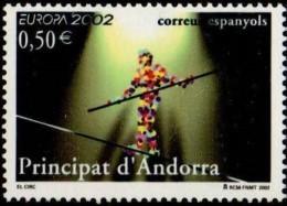 Cept 2002 Andorre Espagnol Andorra  Yvertn° 280 *** MNH Le Cirque Circus Clowns Cote 15 Euro - 2002