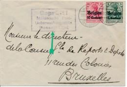 Brief Hasselt 19.12.16 Censuur Hasselt – Verso Bankcensuur - WW I